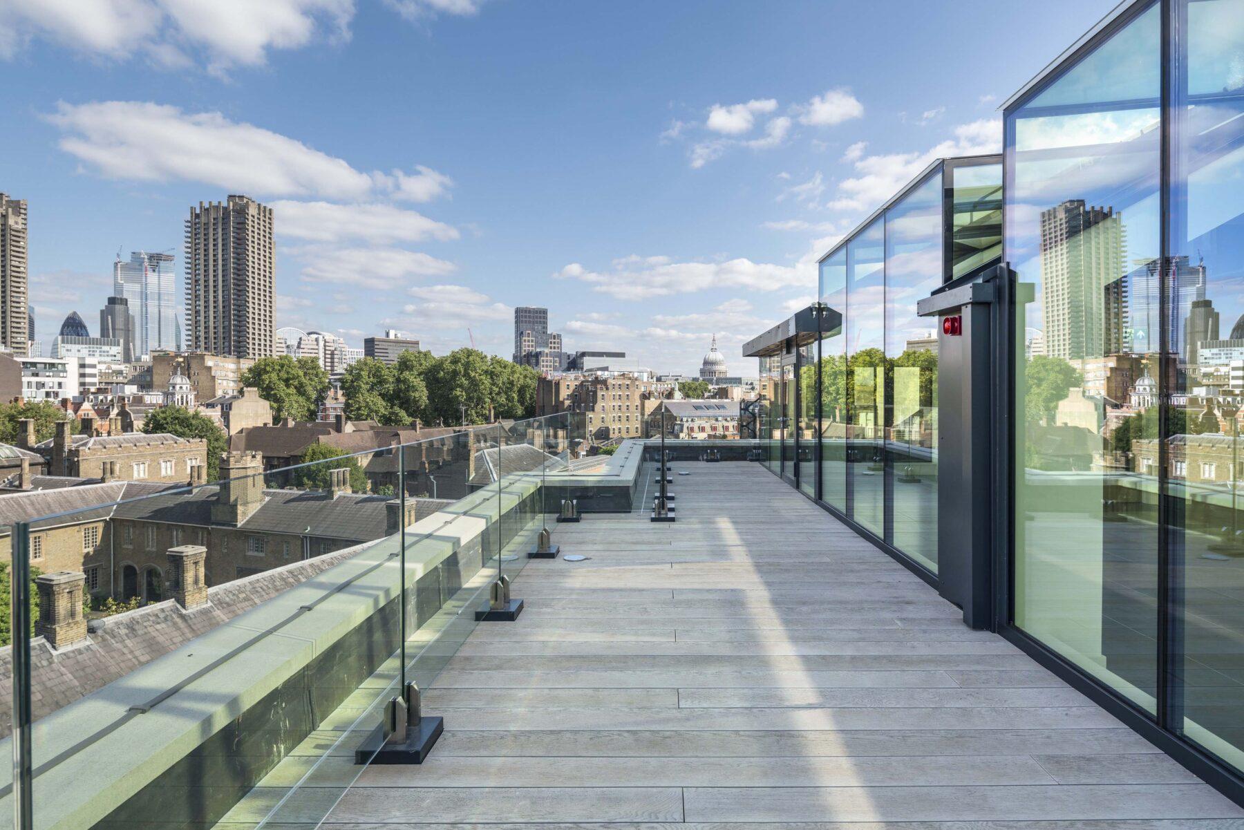 100 St John Street top floor view of Saint Paul's