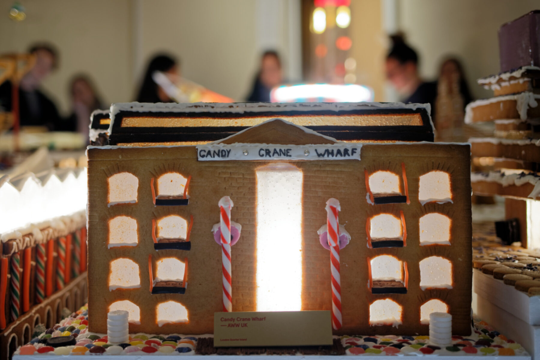 Facade of gingerbread building for Gingerbread City 2019