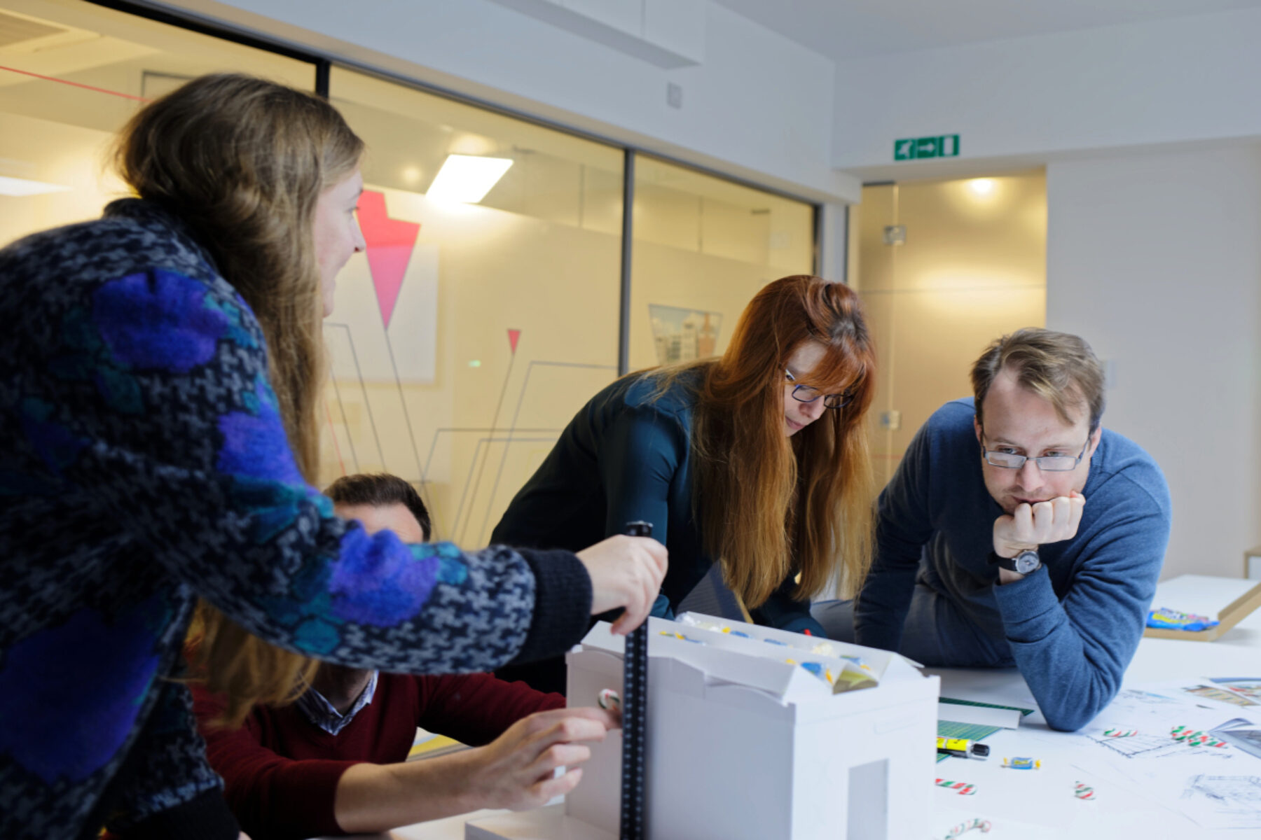 The London studio during a concept meeting