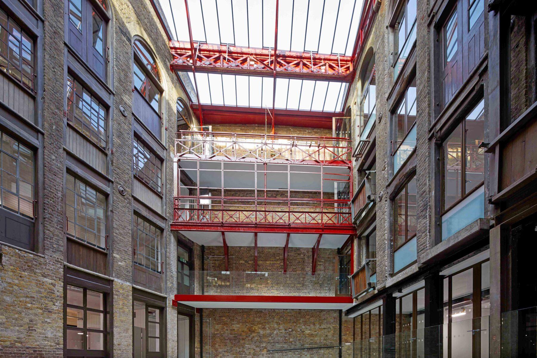 Victorian atrium in the Farmiloe building
