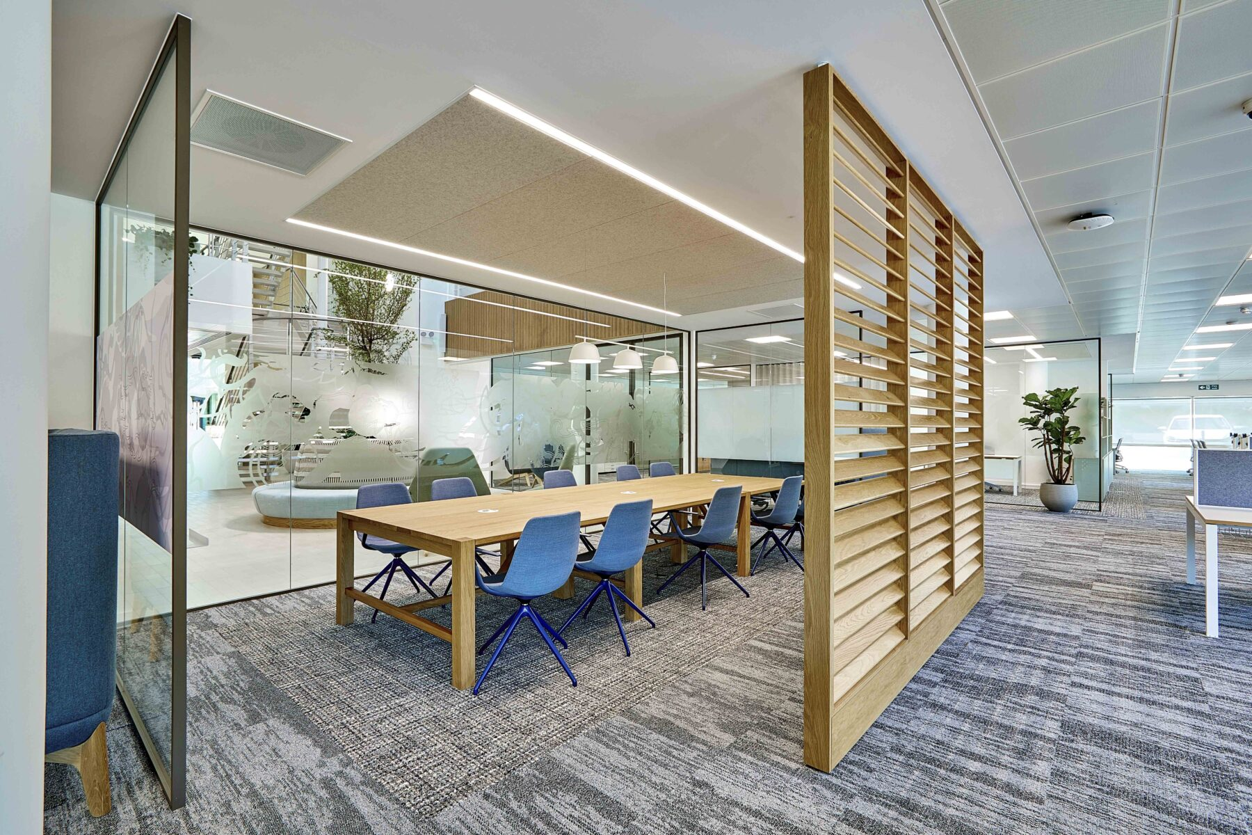 Boardroom and flexible interiors in SJP's office
