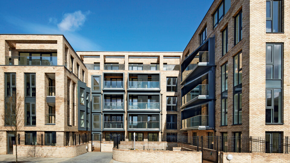 Facade of Battersea residential project