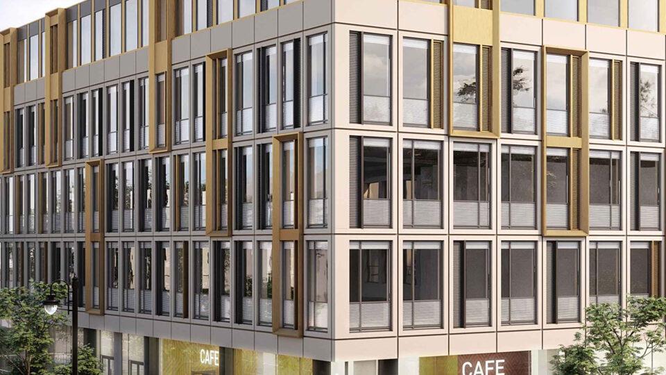 CGI facade of the Quadrangle