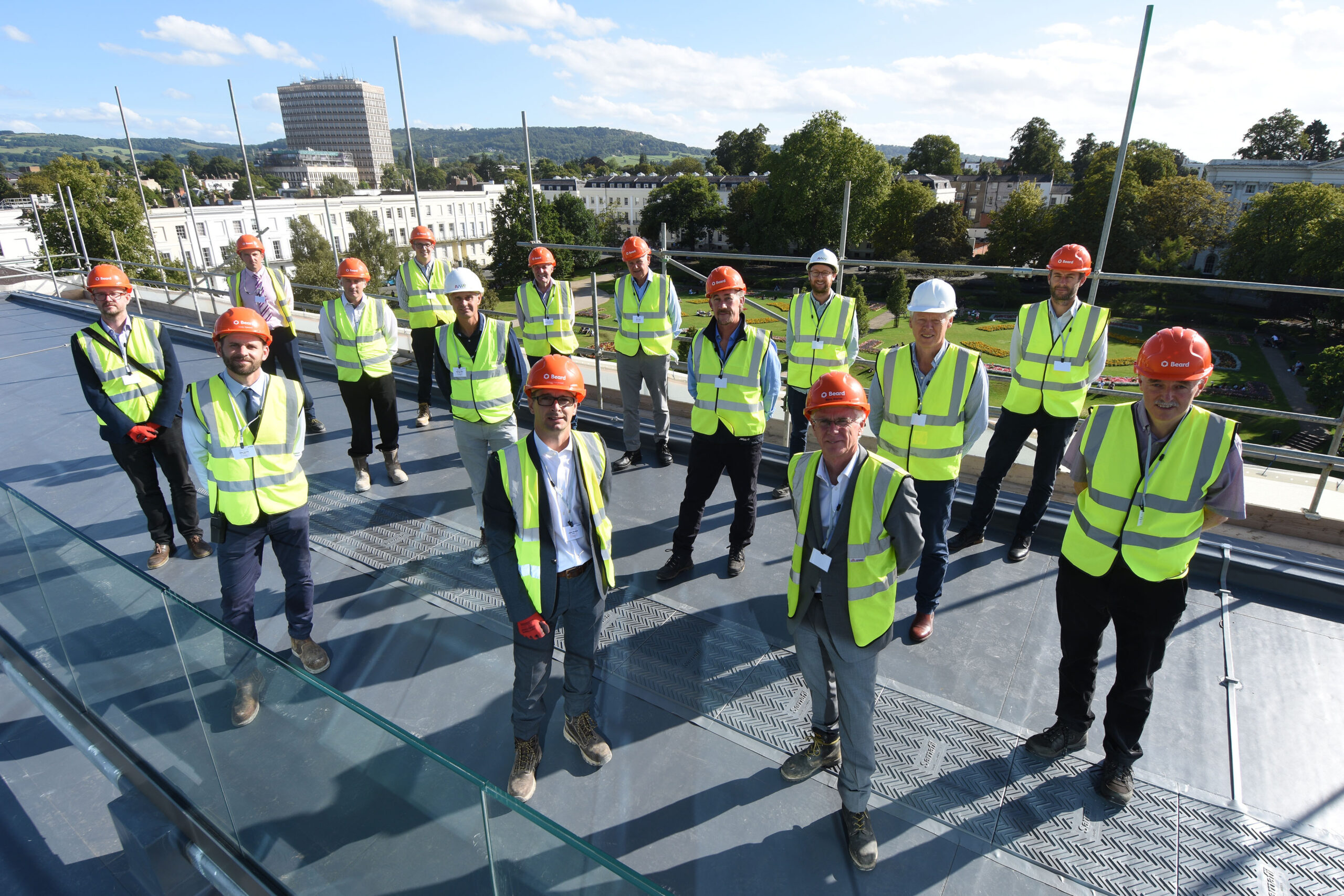 AWW team at the roof topping celebration
