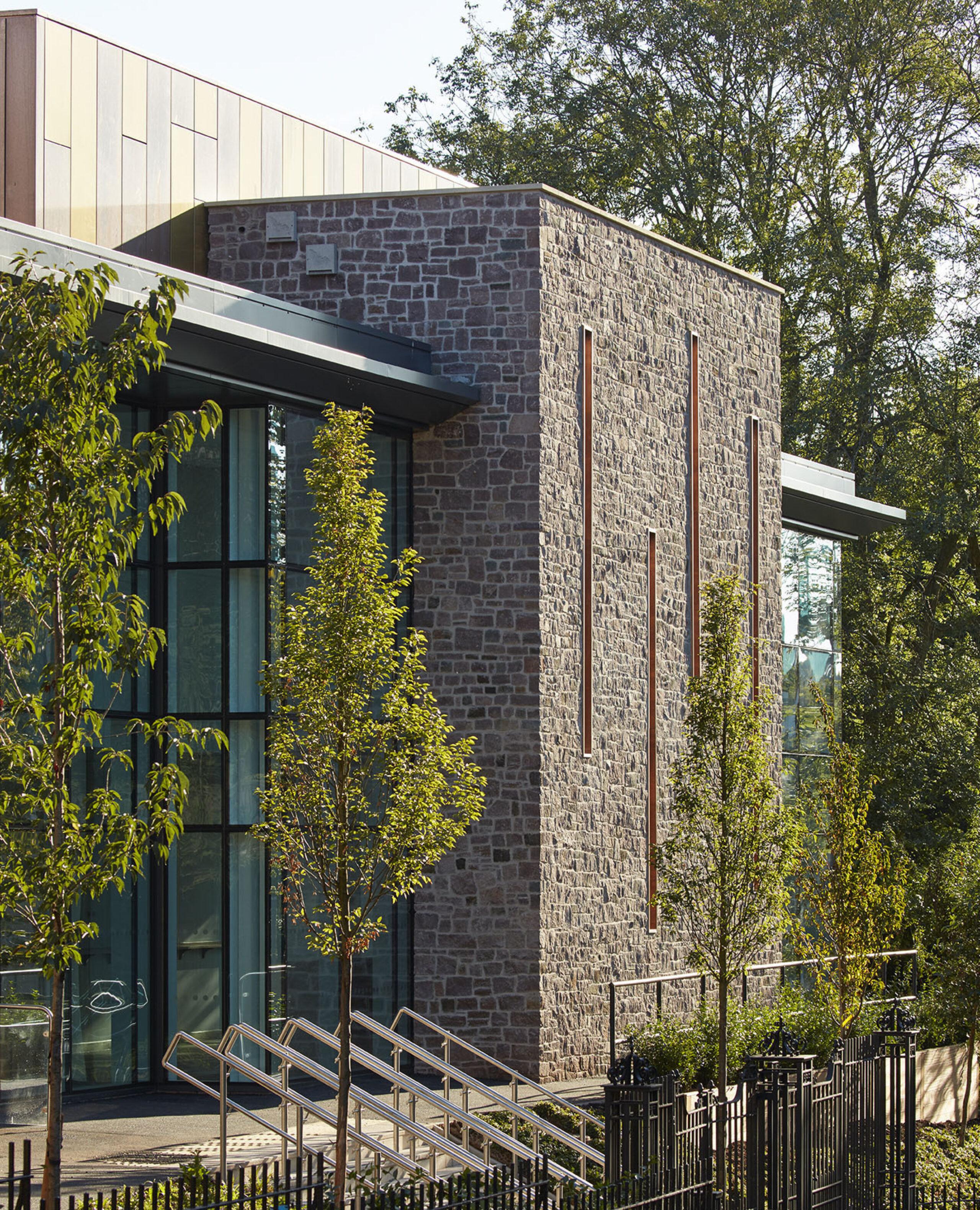Modern and historic facade