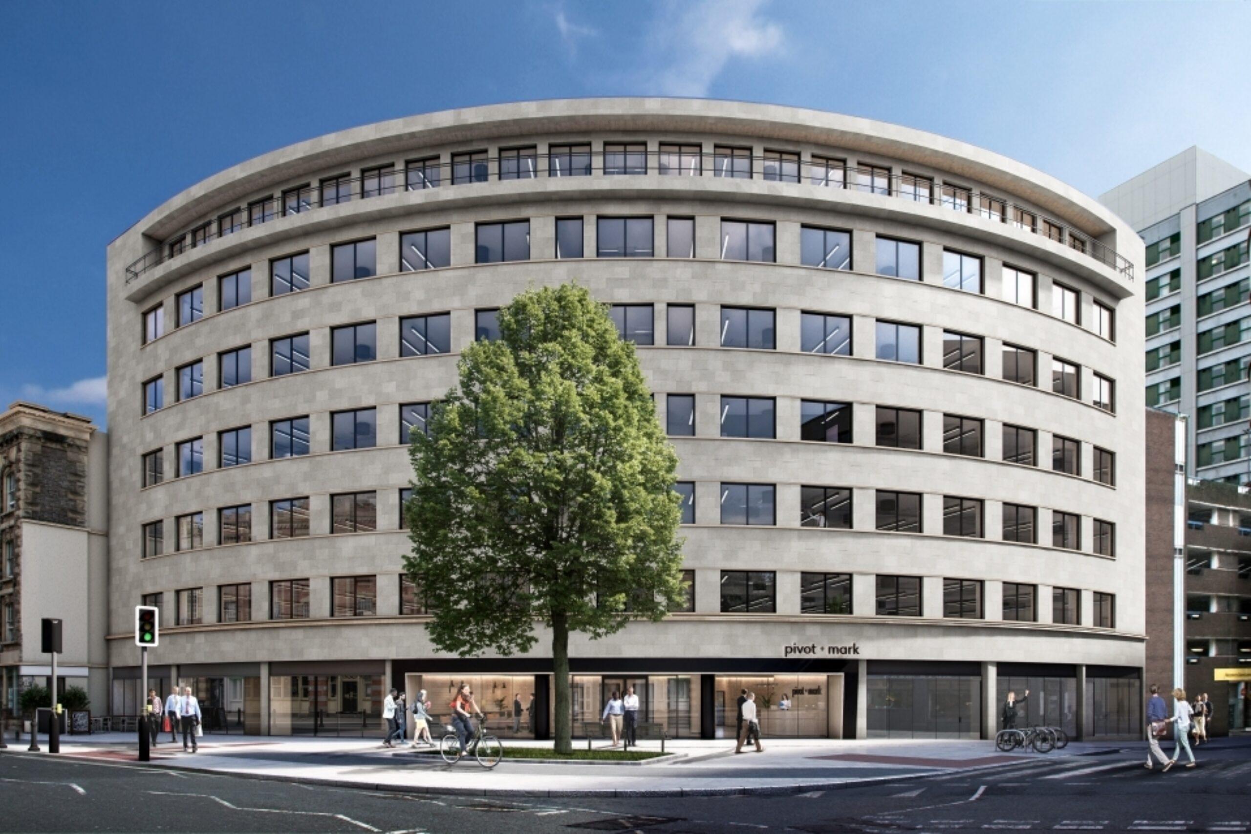 Facade of pivot + mark AWW's Bristol office