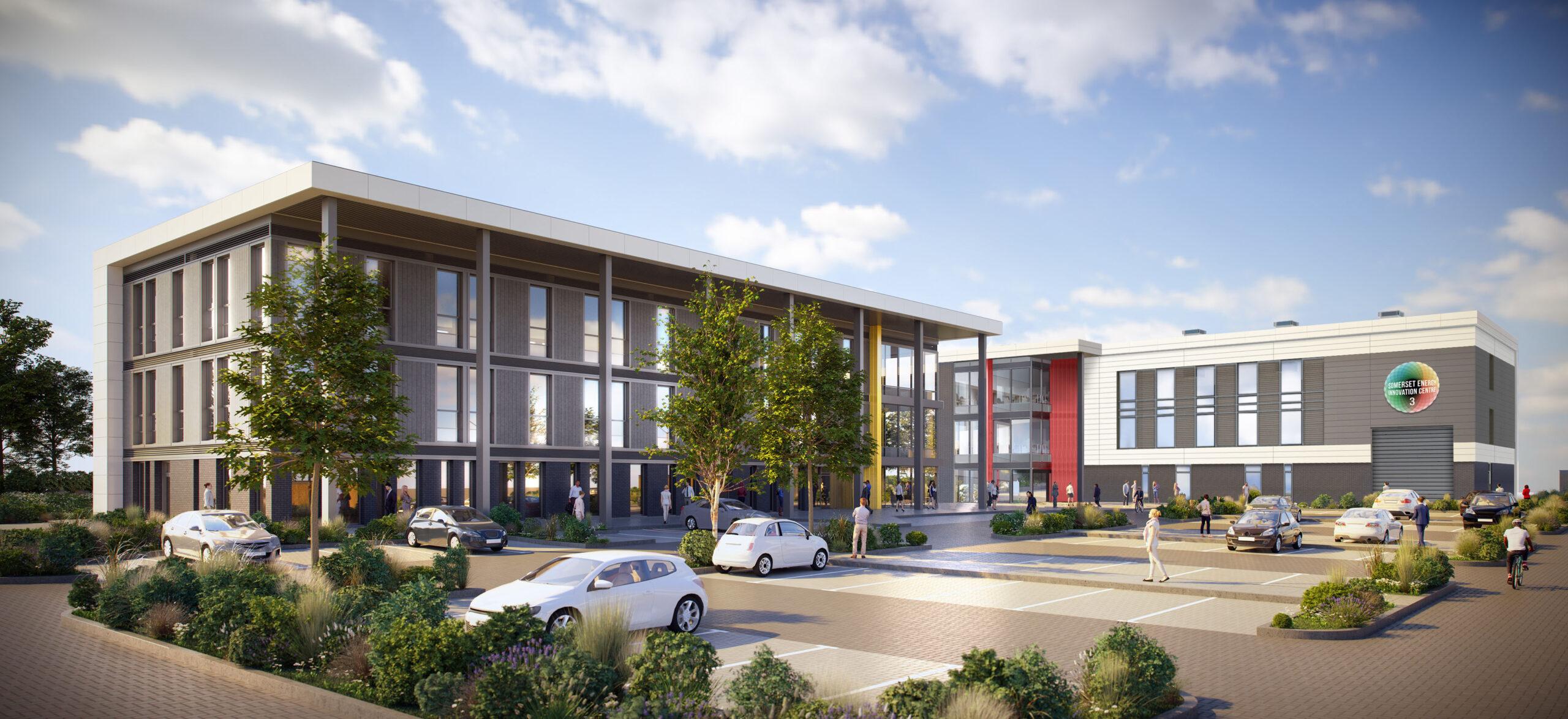 CGI of SEIC building exterior