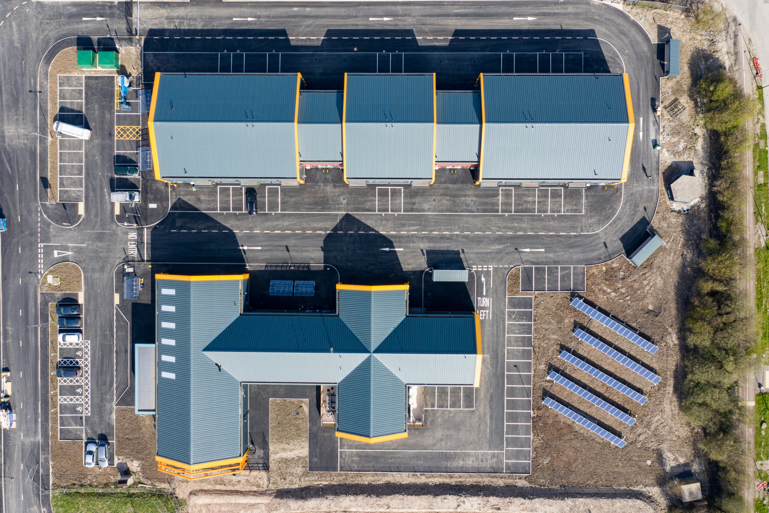 aerial view of the Foodworks project
